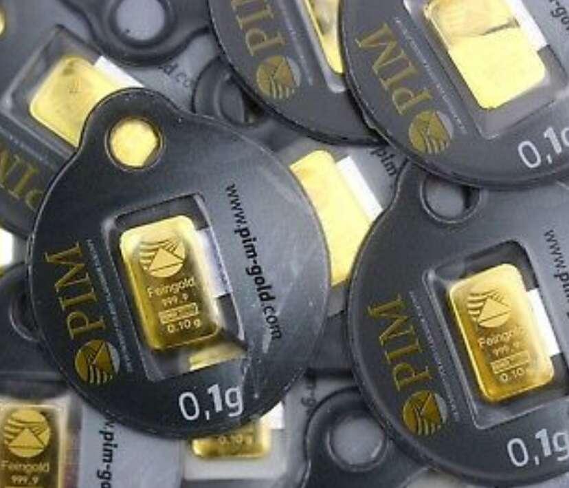 Imagen producto Lingote de oro puro 999 de 0.10 nuevo  3
