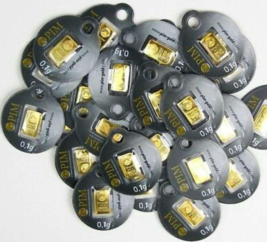 Imagen par de lingotes de oro puro 999 nuevos
