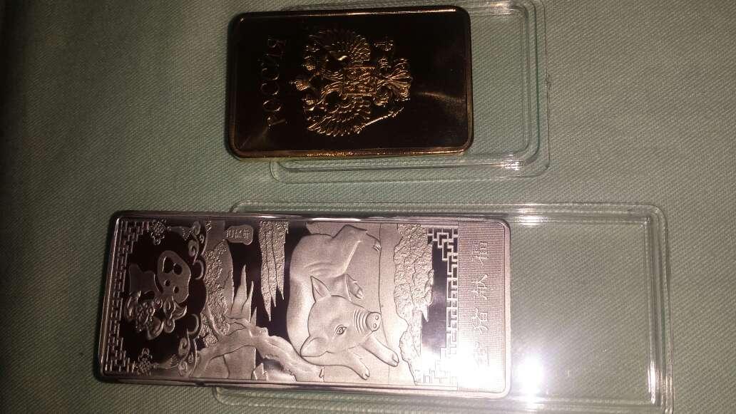 Imagen 2 lingotes oro plata