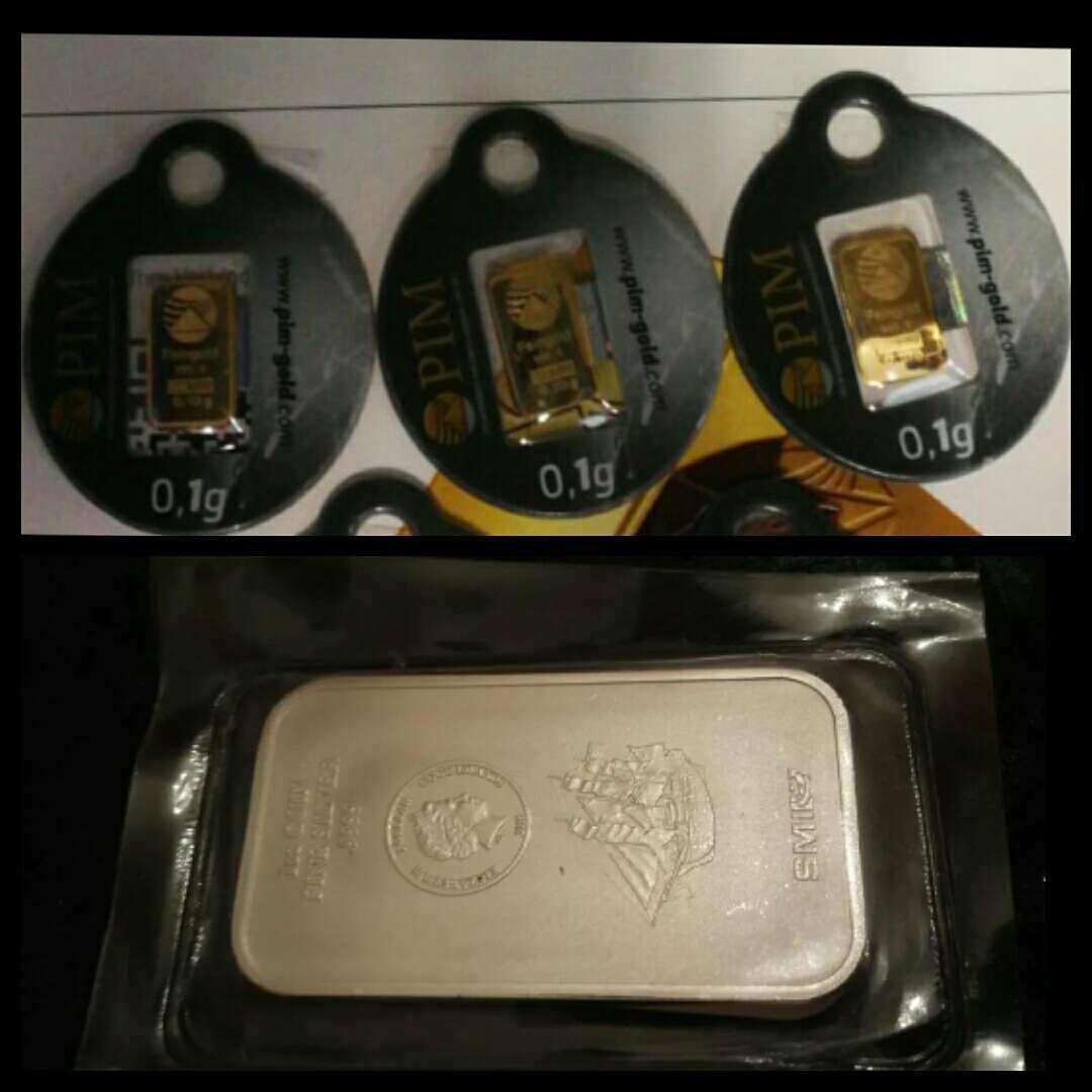 Imagen lote oro 999 y plata 999