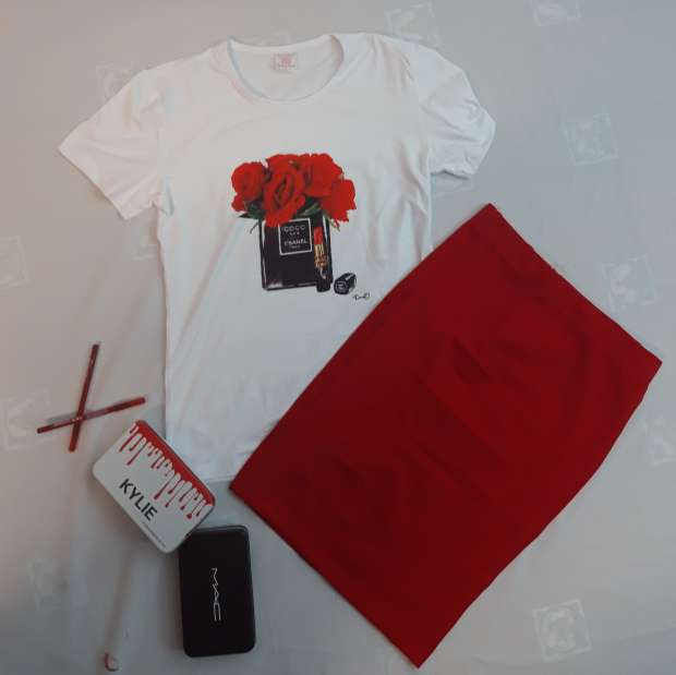 Imagen conjunto de falda y camiseta