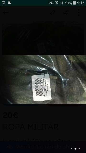 Imagen producto Ropa militar verde 2