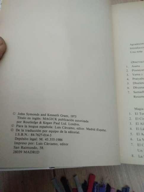 Imagen producto MAGIA (K) en teoría y práctica. Crowley, Aleister 1ª ed., 1986 2