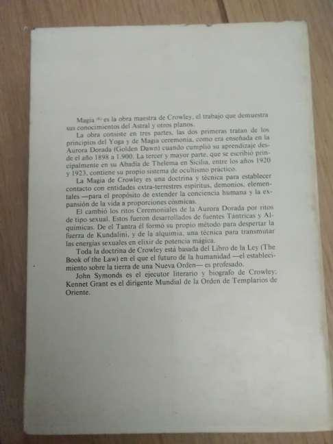 Imagen producto MAGIA (K) en teoría y práctica. Crowley, Aleister 1ª ed., 1986 5