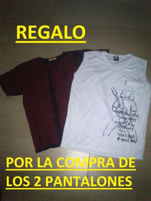 Imagen producto 2 Tejanos nuevos + REGALO 2 camisetas nuevas 5