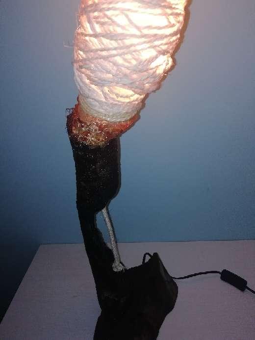 Imagen producto Lámpara diseño. Ecológica. NUEVA. 65cm altura 8