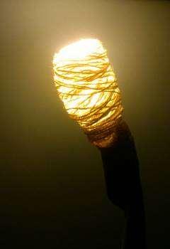 Imagen producto Lámpara diseño. Ecológica. NUEVA. 65cm altura 4