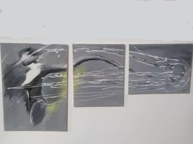 Imagen Cuadro de 3 piezas 150cm x 70cm aprox.