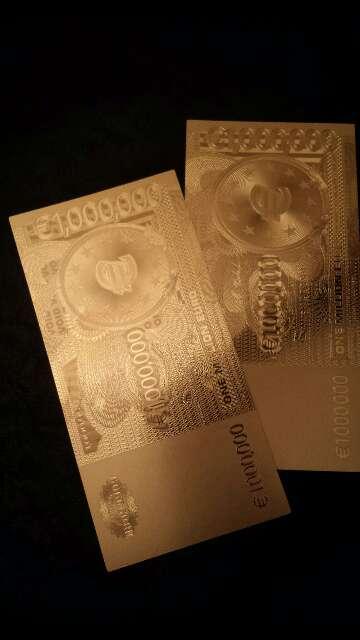 Imagen billete de colección 1 000 000 euros