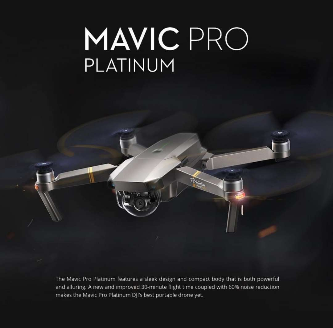 Imagen producto Dron DJI Mavic Pro Platinum 1