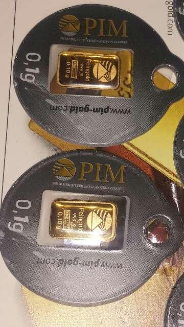 Imagen 2 lingotes de oro puro 999