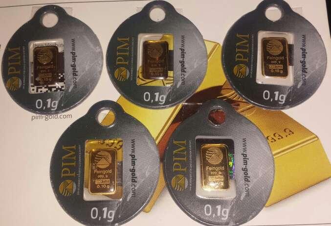 Imagen 5 lingotes de oro puro 999