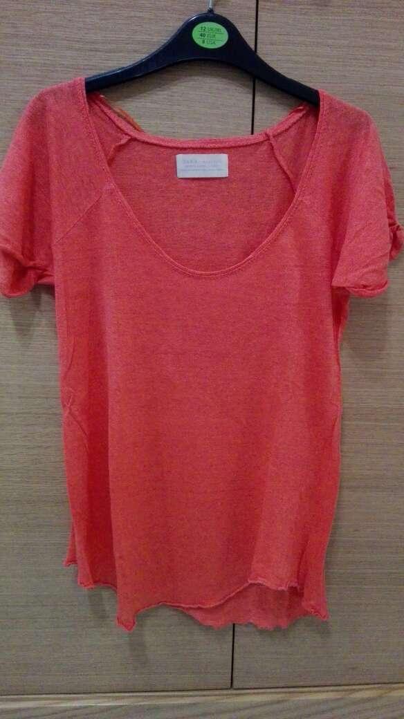 Imagen producto Camiseta Zara Naranja 3