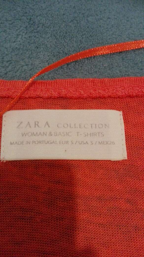 Imagen producto Camiseta Zara Naranja 2
