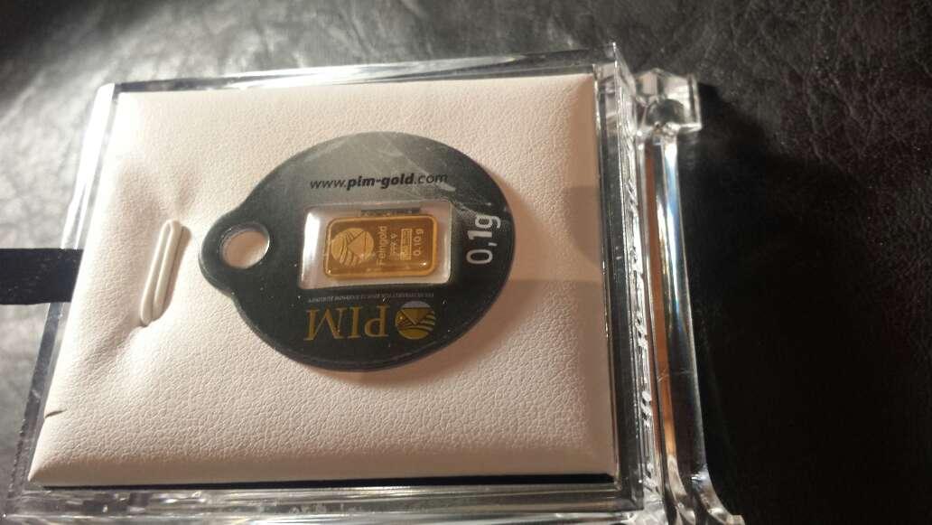 Imagen nuevo y estupendo lingote de oro puro 999
