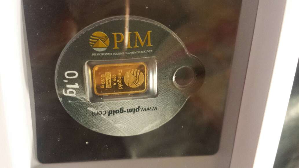 Imagen producto Nuevo y estupendo lingote de oro puro 999 5