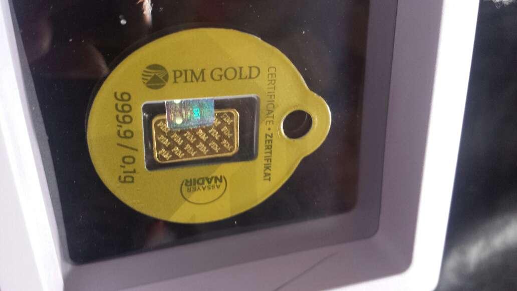 Imagen producto Nuevo y estupendo lingote de oro puro 999 6