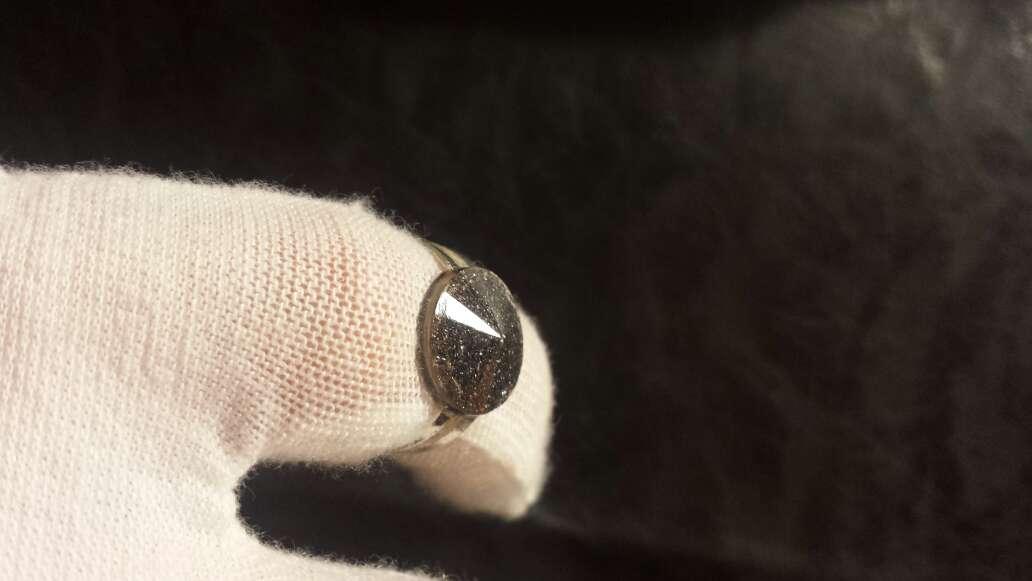 Imagen producto Meteorito polvo anillo cuadrado  2