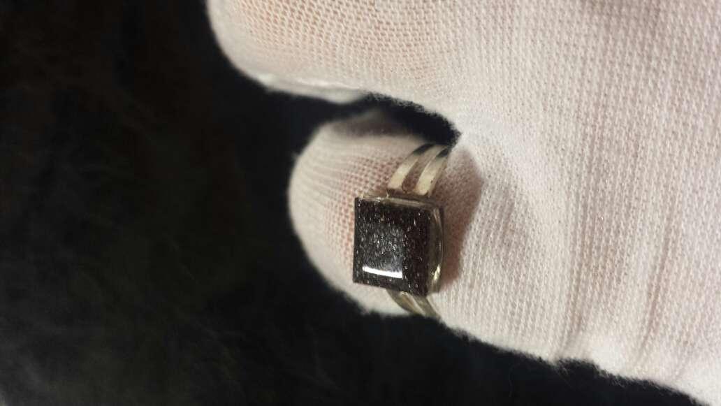 Imagen producto Meteorito polvo anillo cuadrado  9
