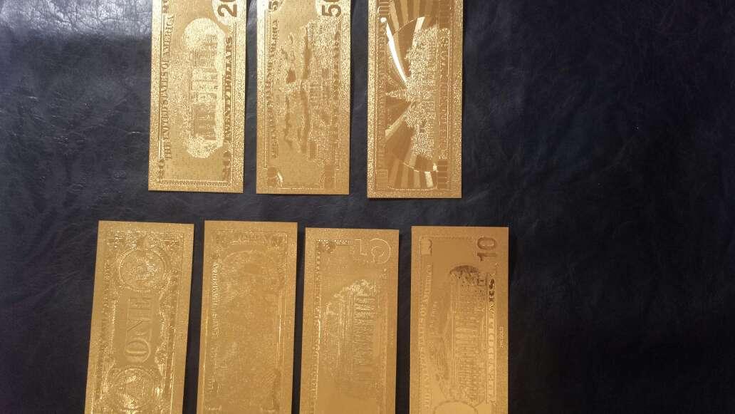 Imagen producto Billetes de dólar de oro  4