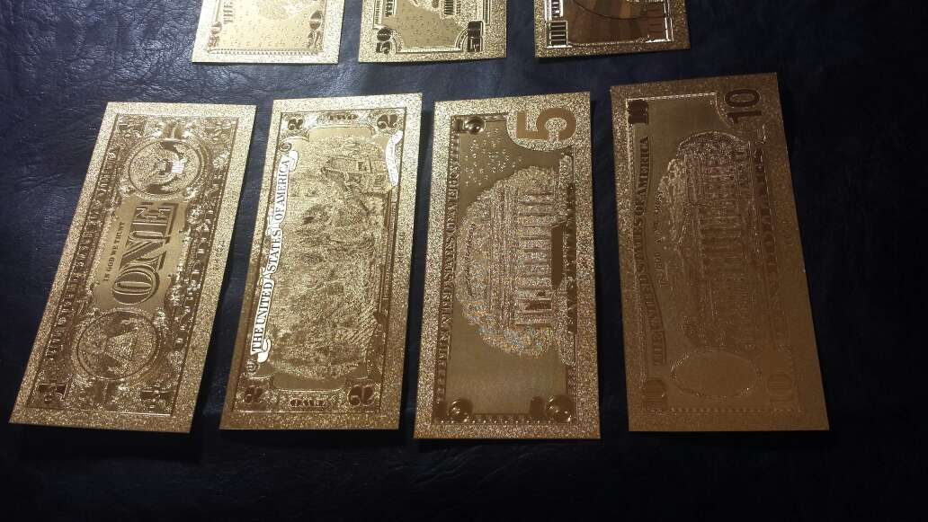 Imagen producto Billetes de dólar de oro  5