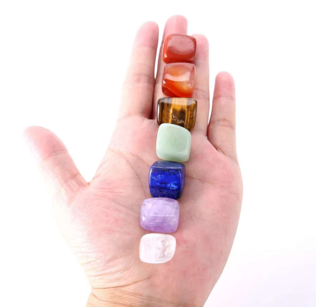 Imagen producto 7 piedras semipreciosas con bolsa de gasa 2