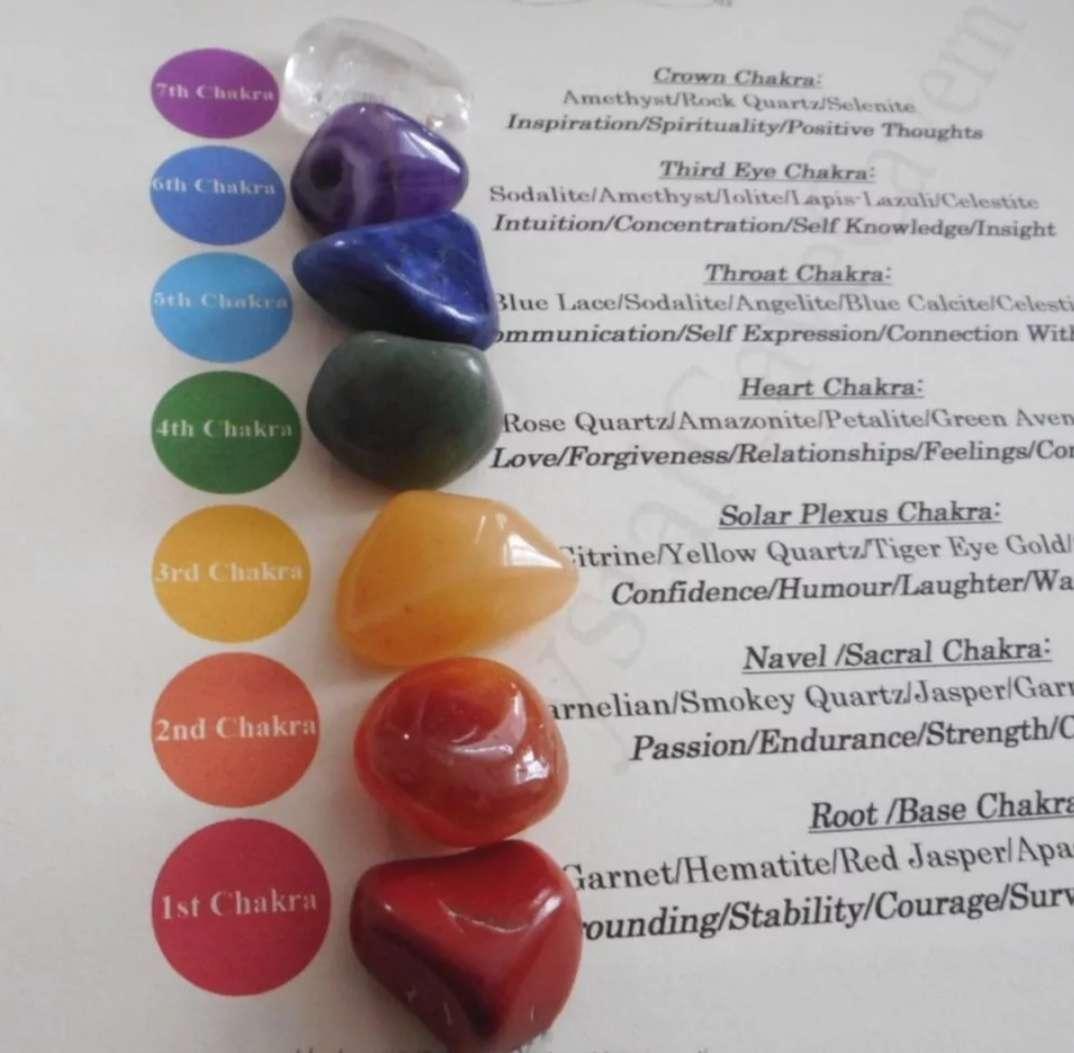Imagen producto 7 piedras semipreciosas con bolsa de gasa 3