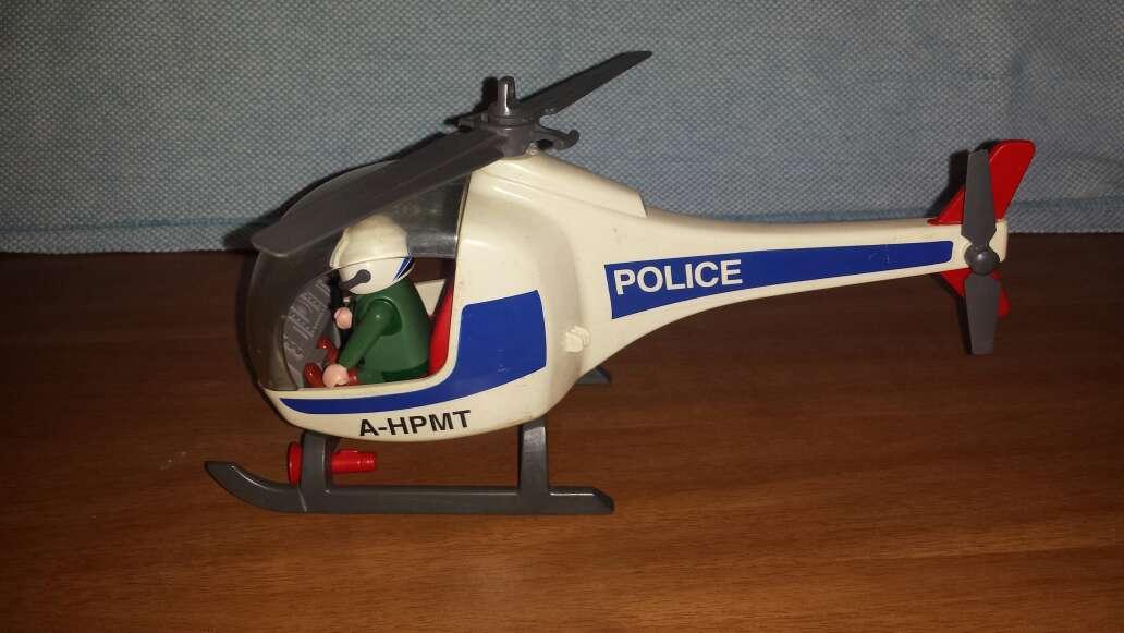 Imagen helicóptero Police playmobil