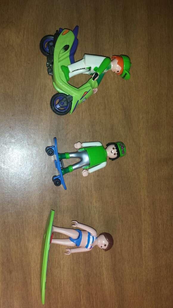 Imagen producto Motorista , skater y surfera playmobil  4