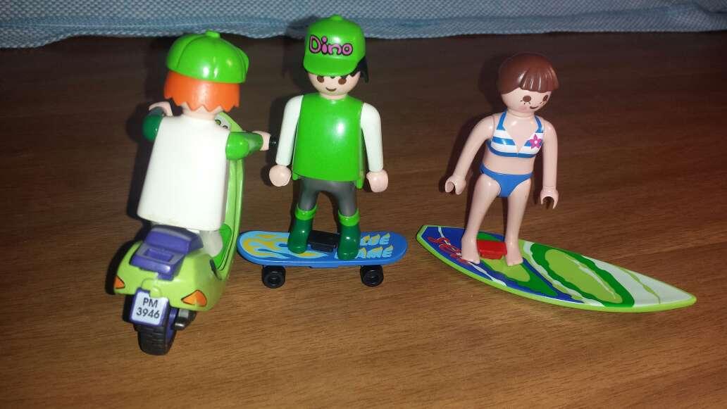 Imagen producto Motorista , skater y surfera playmobil  6
