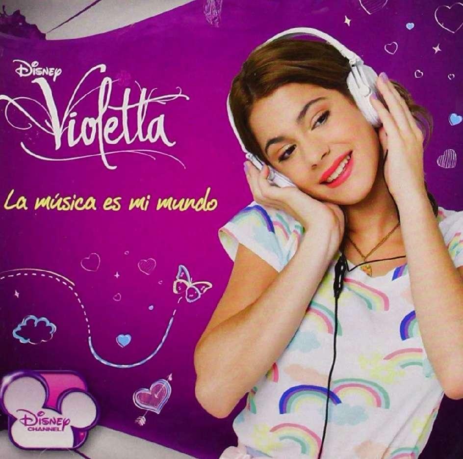 Imagen disco de Violetta titulado ?La música es mi mundo?, un CD+DVD