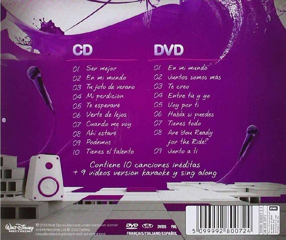 Imagen producto Disco de Violetta titulado ?La música es mi mundo?, un CD+DVD 2