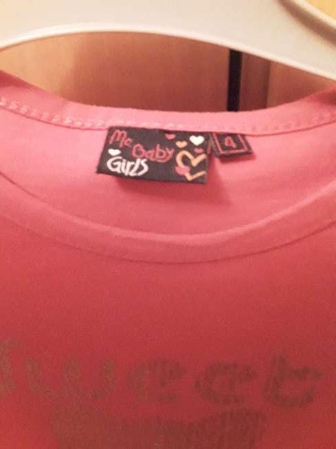 Imagen producto Camiseta de niña talla 4 3