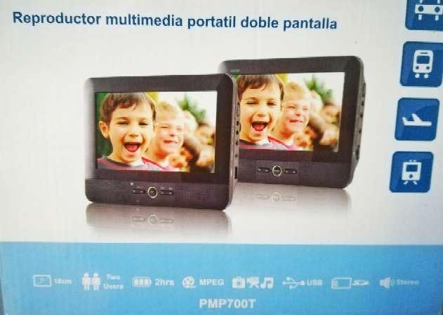 Imagen producto Reproductor multimedia coche doble pantalla  1