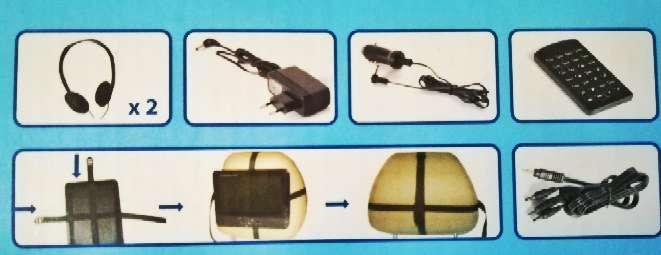Imagen producto Reproductor multimedia coche doble pantalla  2