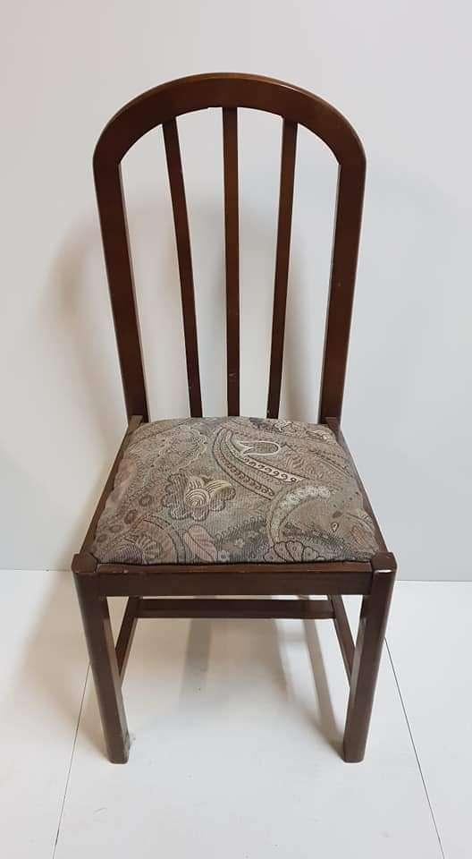 Imagen Dos sillas madera de haya color nogal