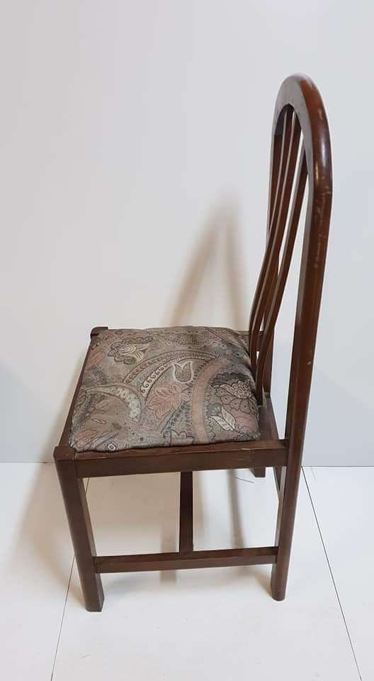 Imagen producto Dos sillas madera de haya color nogal  2