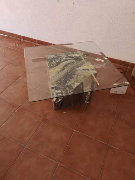 Imagen producto Mesa mármol y. Cristal 2
