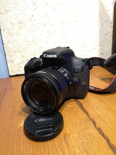 Imagen Kit de: Canon eos 800d +funda+ objetivo(18-55) con estabilizador
