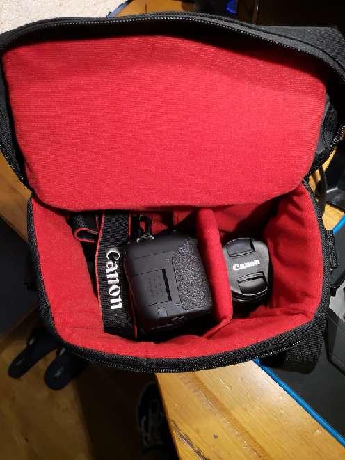 Imagen producto Kit de: Canon eos 800d +funda+ objetivo(18-55) con estabilizador  2