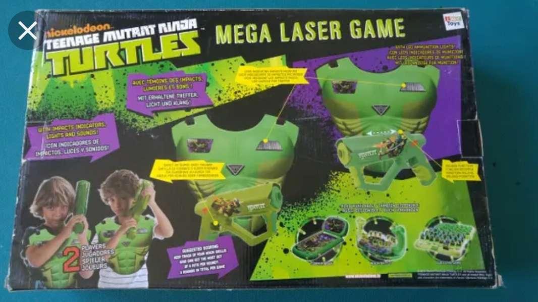 Imagen producto Juego pistola láser tortugas ninja 2