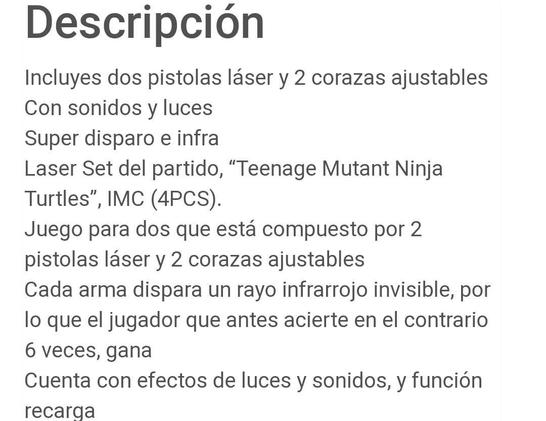 Imagen producto Juego pistola láser tortugas ninja 3