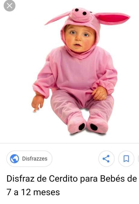 Imagen disfraz cerdito bebés
