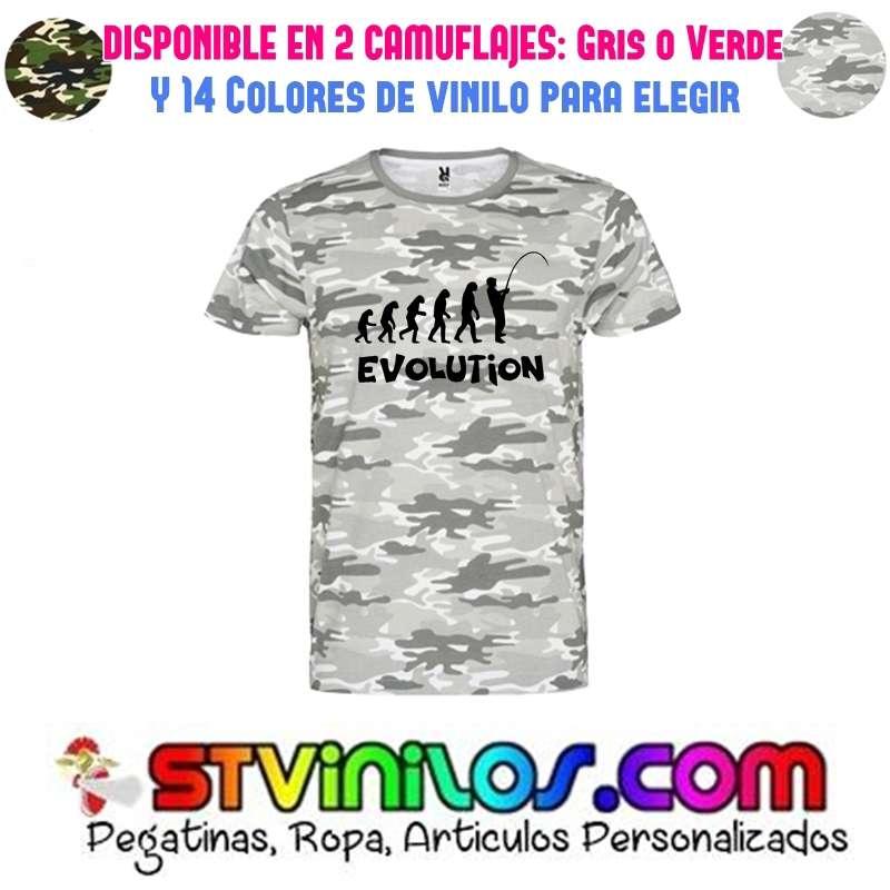 Imagen camiseta evolución pesca
