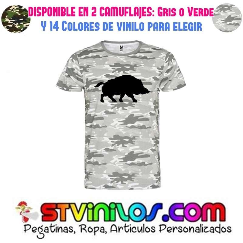 Imagen camiseta caza jabalí