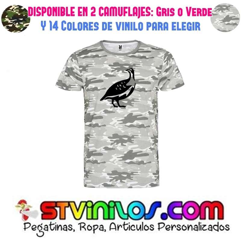 Imagen camiseta perdiz caza