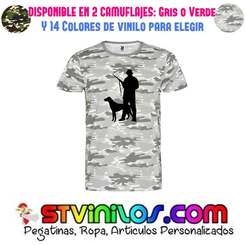 Imagen camiseta cazador  con perro