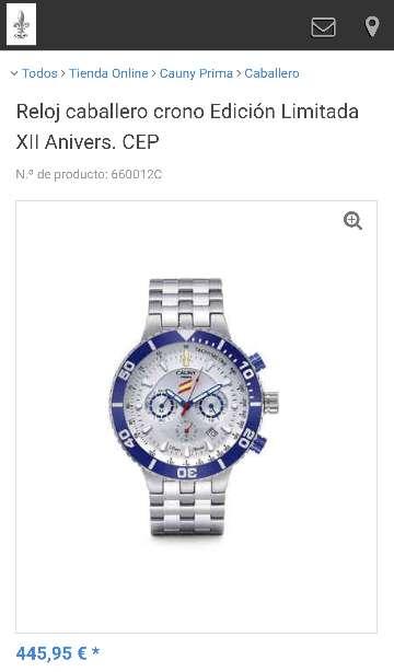 Imagen producto Reloj caballero CAUNY Edi. especial Policía 5