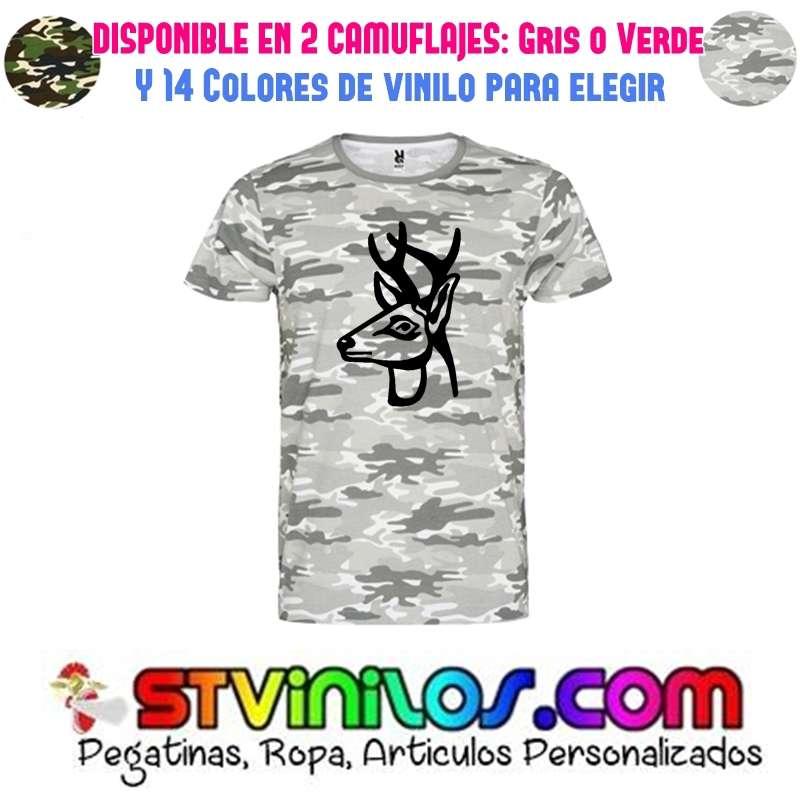 Imagen camiseta caza ciervo