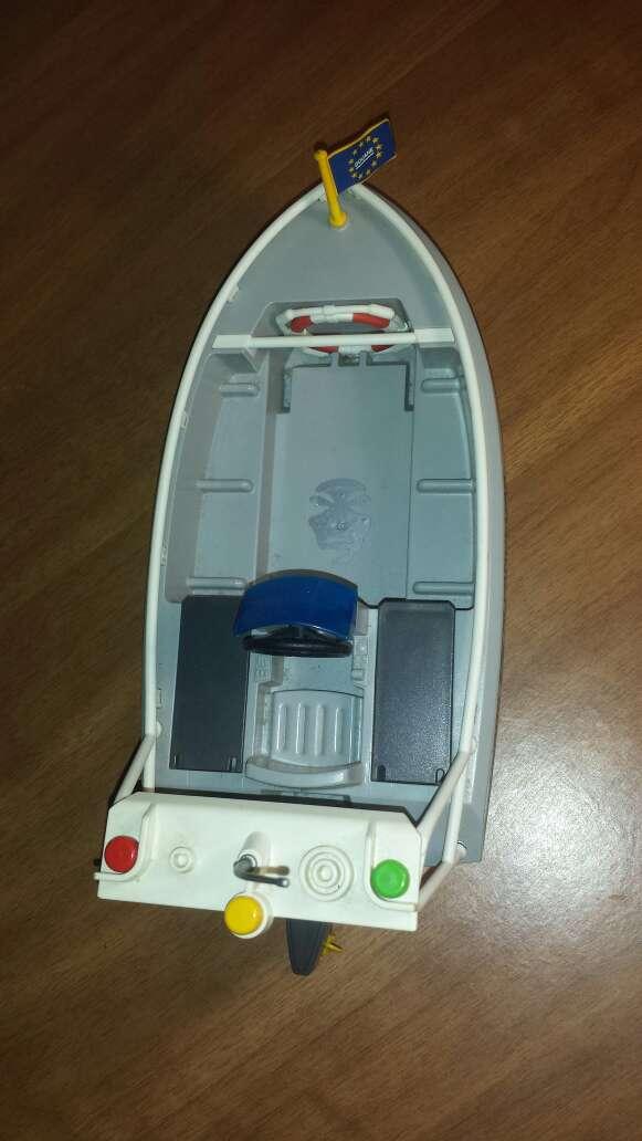 Imagen lancha playmobil aduana